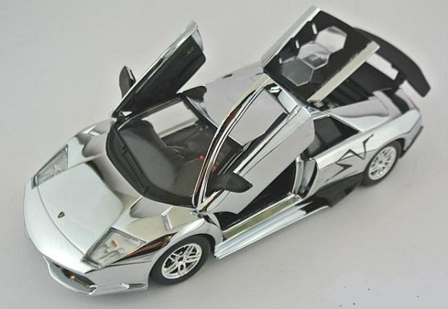 โมเดลรถ โมเดลรถยนต์ โมเดลรถเหล็ก Lamborghini LP670-4 silver 3