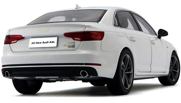 โมเดลรถ โมเดลรถเหล็ก โมเดลรถยนต์ Audi A4L white 2