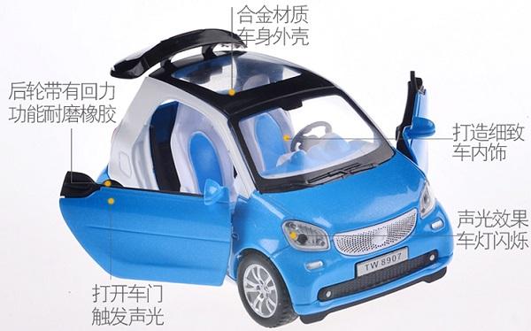 โมเดลรถเหล็ก โมเดลรถยนต์ Benz Smart 2