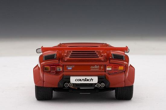 โมเดลรถ โมเดลรถยนต์ โมเดลรถเหล็ก lamborghini countach 5000s red 5