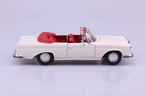 โมเดลรถ โมเดลรถเหล็ก โมเดลรถยนต์ Benz 280SE white 5