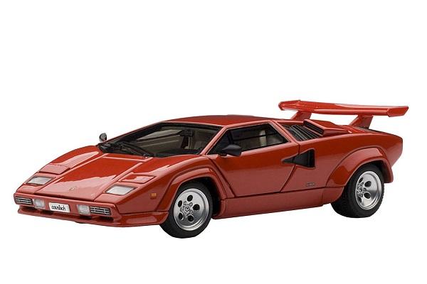 โมเดลรถ โมเดลรถยนต์ โมเดลรถเหล็ก lamborghini countach 5000s red 1