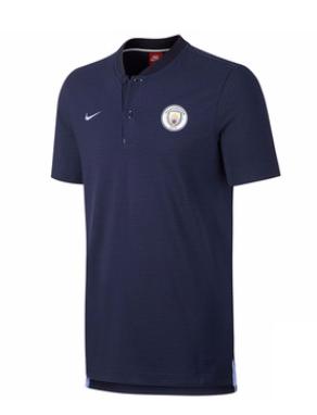 เสื้อไนกี้โปโลแมนเชสเตอร์ ซิตี้ สีน้ำเงินเข้มของแท้