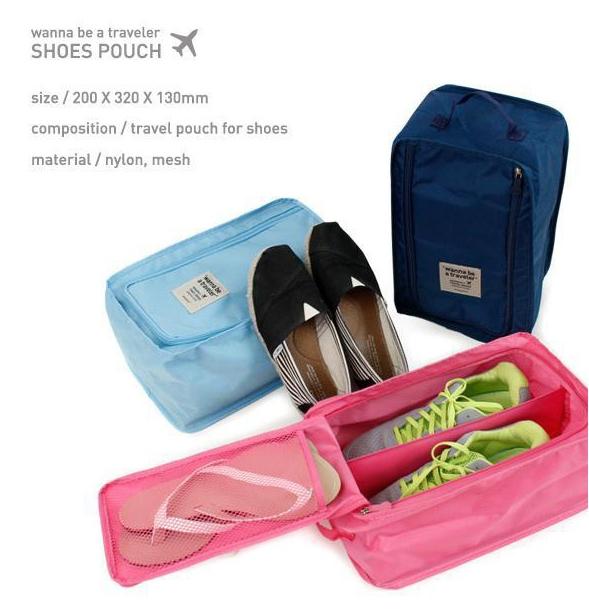SHOES POUCH กระเป๋าใส่รองเท้า กันน้ำ ใส่ได้ 1-2 คู่ สำหรับเดินทาง