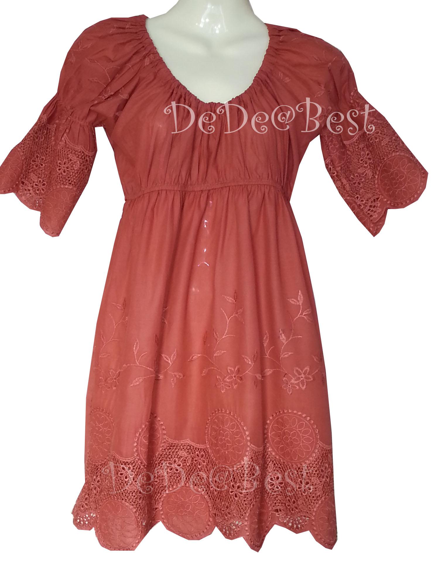 ขายแล้วค่ะ T72:First-hand top เสื้อแนววินเทจฉลุลายดอกไม้สวยมาก:สินค้าใหม่ป้ายห้อย!&#x2764