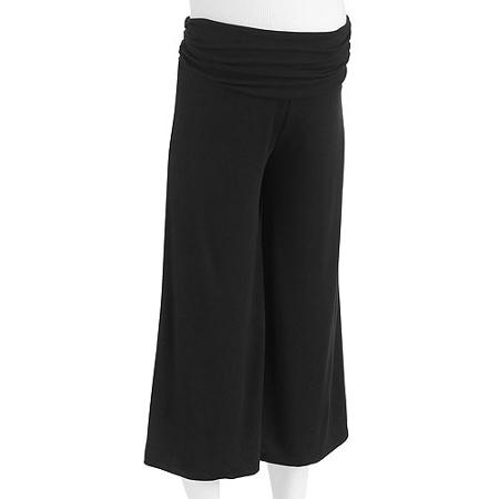 กางเกงคนท้อง ผ้ายืดสแปนเด็กซ์ ขายาวสีดำ