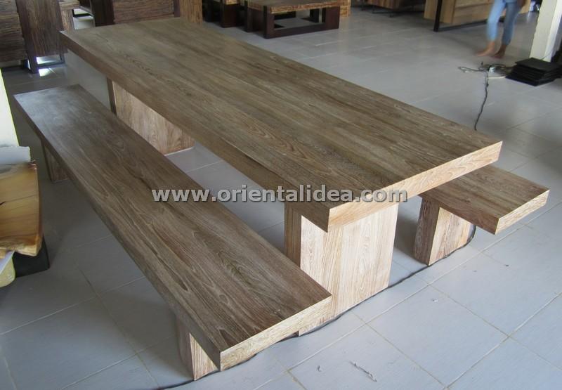 ชุดโต๊ะ+ม้านั่งไม้สัก Teak Set