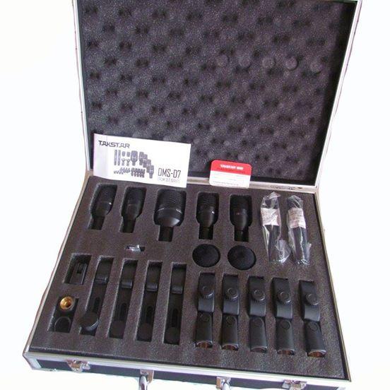 ไมค์กลองชุด 7 ชิ้น Takstar DMS-07 Drum set series พร้อมกล่องเคสแข็ง+จัดส่งฟรี