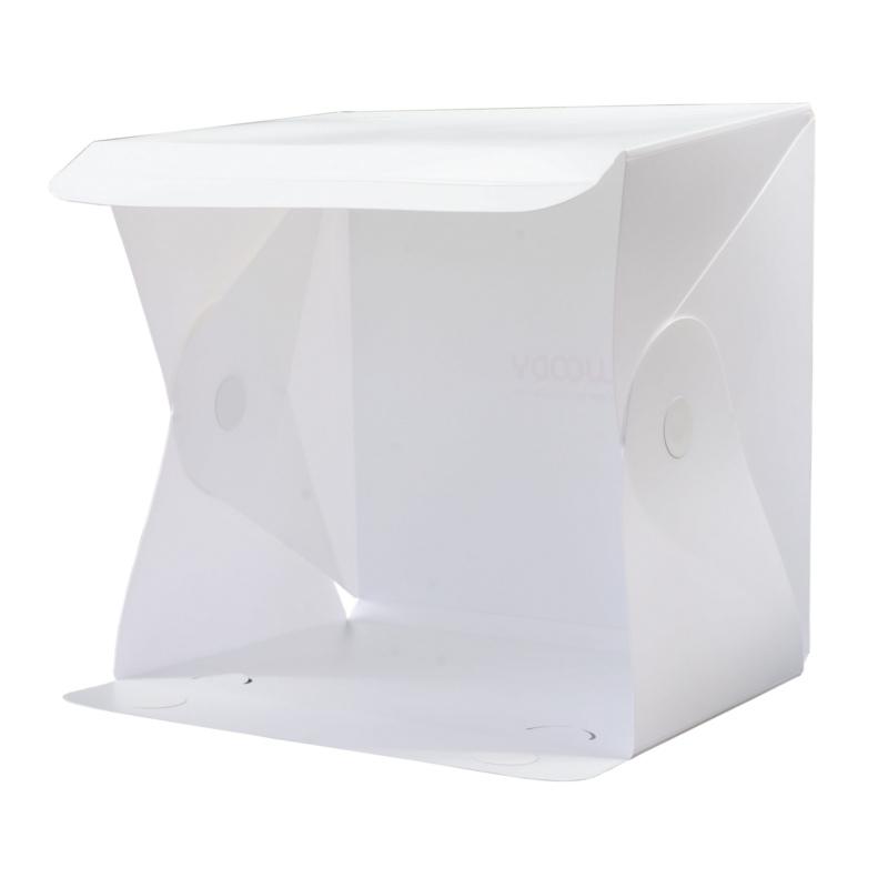 Woody Portable Foldable Photography Studio with LED Light กล่องถ่ายภาพ พับได้ พร้อมไฟ LED ขนาด 40x40x40 cm.