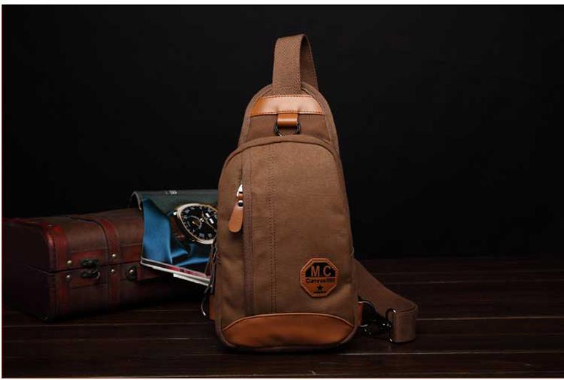 กระเป๋าคาดอกสีกาแฟ
