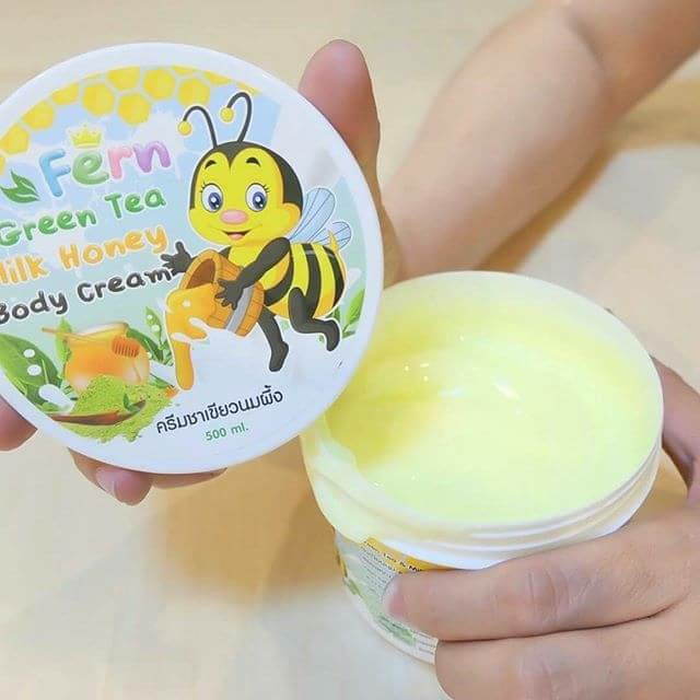 Fern Green Tea Milk Honey Body Cream 500 g. ครีมชาเขียวนมผึ้ง