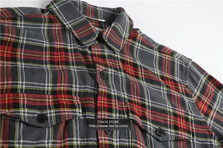 เสื้อเชิ้ตSAINT LAURENT-Flannel Shirt fw/16