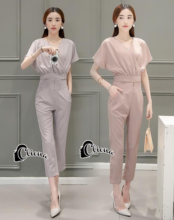 เสื้อผ้าเกาหลี พร้อมส่งRetro Pastorel Color Set