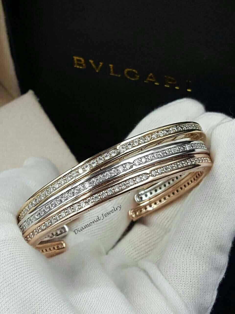 พร้อมส่ง Bvlgari Bracelet งาน 3 กษัตริย์ สีเงิน/ทอง/พิ้งโกลด์