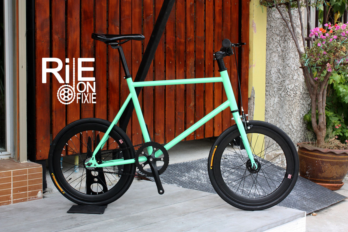 VENTUS Mini Fixed Gear - Green Bianchi / Black