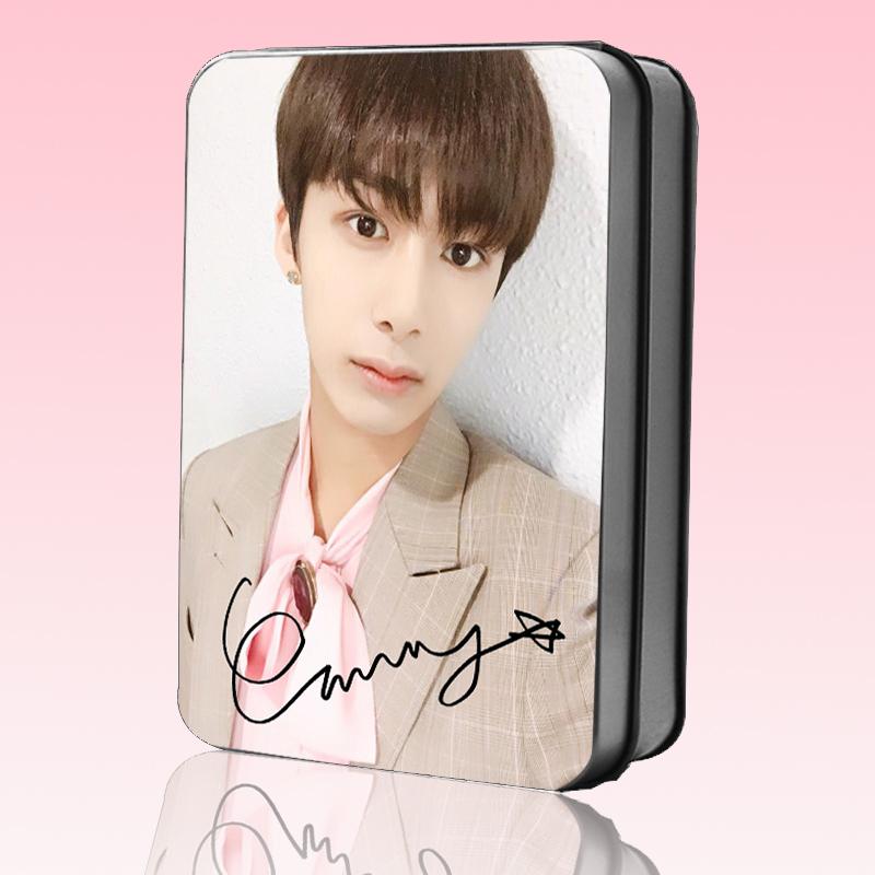 โพราลอยด์ 30แผ่น + กล่องเหล็ก MONSTA X Hyung Won