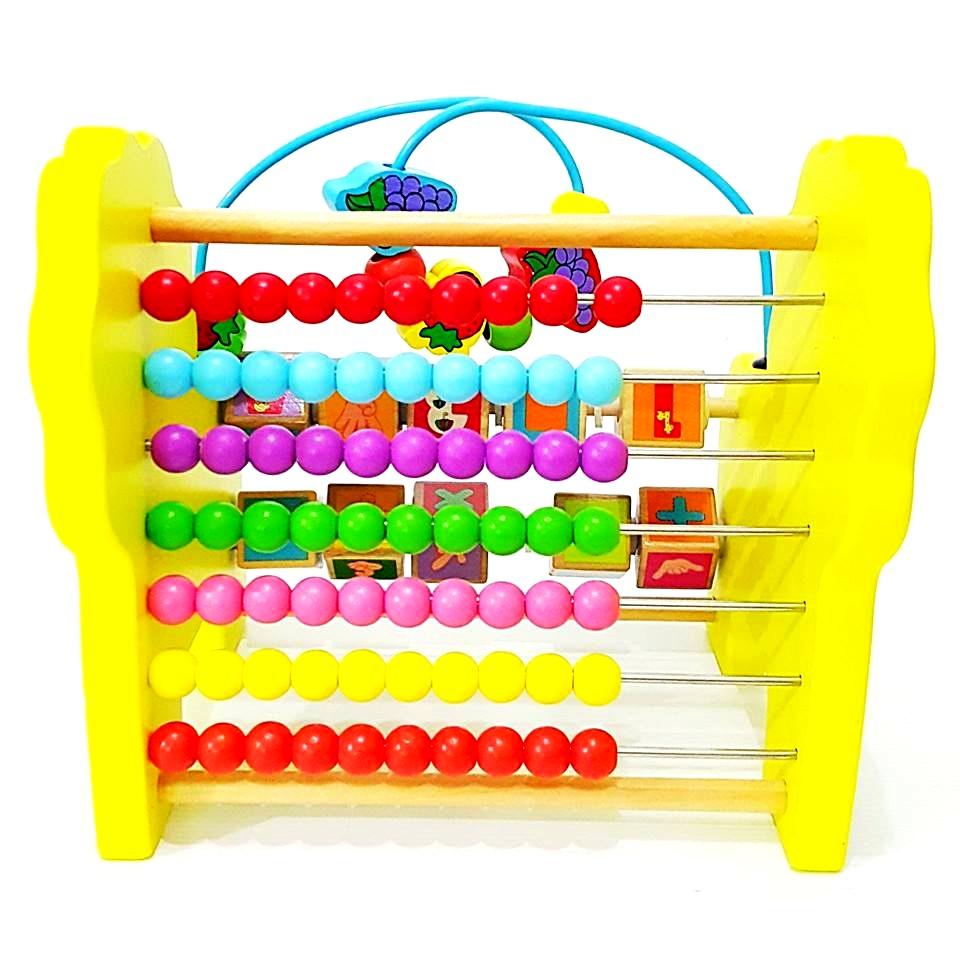 ของเล่น กล่องกิจกรรมไม้ สิงโต ลูกคิดไม้ ของเล่นไม้เพื่อเสริมทักษะและพัฒนาการด้านคณิตศาสตร์