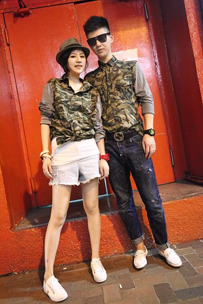 เสื้อแขนยาวคู่รัก ลายพราง ลายทหาร สุดเก๋