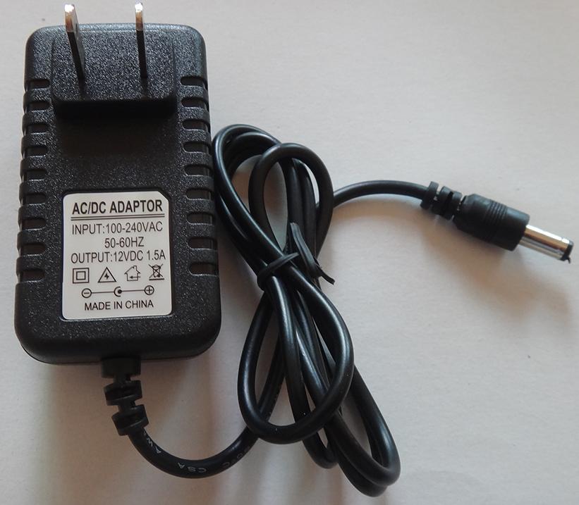 อแดปเตอร์ 12V 1.5A นาด 5.5x2.1mm ( DC Power adapter 12V 1.5A )