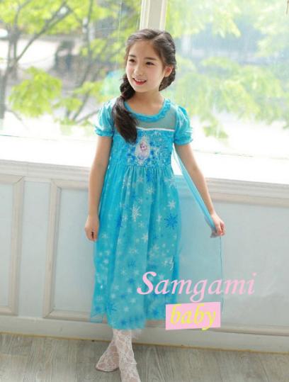 samgami ชุดกระโปรงเจ้าหญิงเอลซ่า สีฟ้า