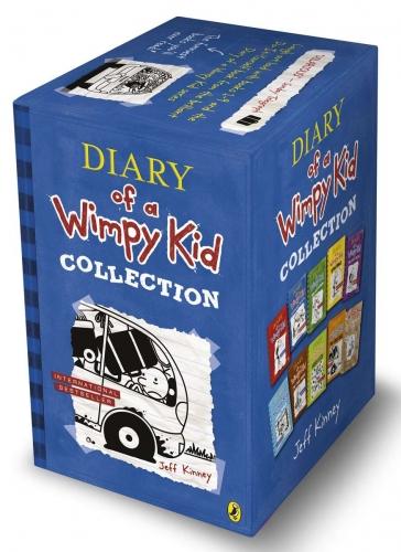 พร้อมส่ง หนังสือชุด Diary of a Wimpy Kid 10 เล่ม กล่องสีฟ้า