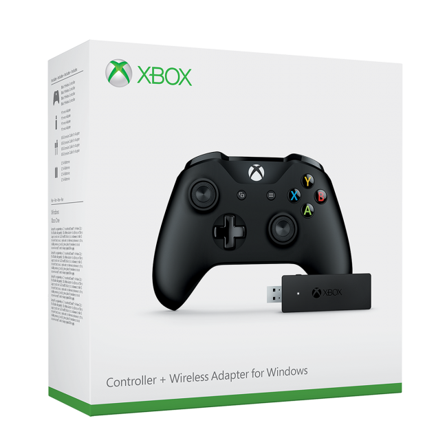 Xbox One S Controller + Adapter for Windows - Black