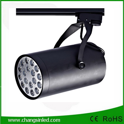โคมไฟ LED Track Light 18W เป็นชุดโคมไฟใช้กับรางไฟโคมสีดํา