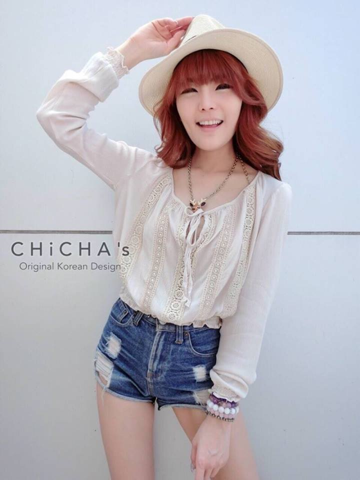 Baby Chillin' Blouse C159-47A12 สีเบจ