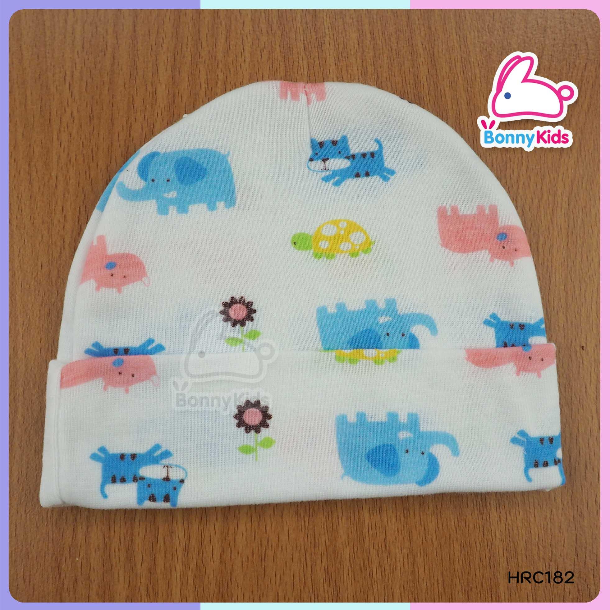 หมวกเด็กอ่อน size 0-6 เดือน (ขายแพ็ค 6 ใบ)