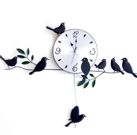 นาฬิกาแขวนผนังรูปนก