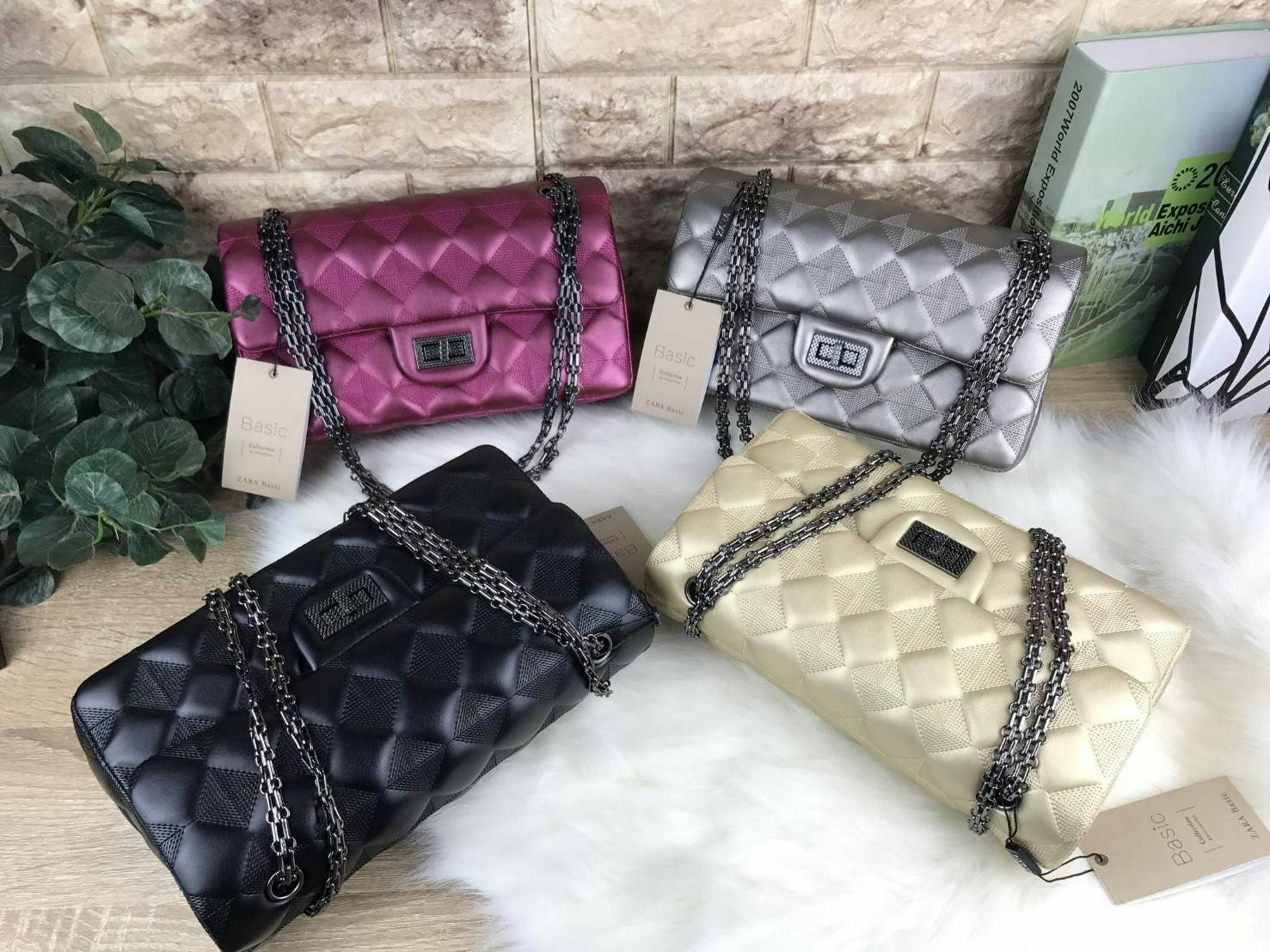 ZARA BASIC QUILTED CHAIN BAG