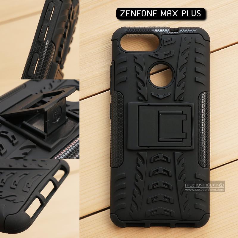เคส Zenfone Max Plus (M1) เคสบั๊มเปอร์ กันกระแทก Defender สีดำ