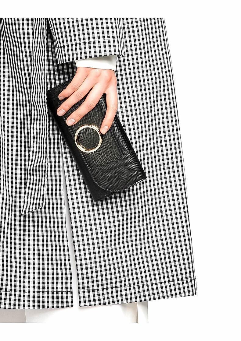 กระเป๋าเงิน ใบยาว Charles & Keith Long Wallet 2017 สีดำ ราคา 1,090 บาท Free Ems