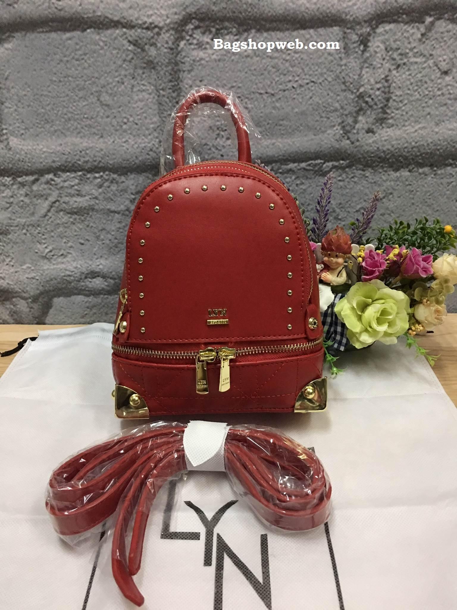 LYN EVITA BACKPACK 2017 รุ่นใหม่ชนช้อป กระเป๋าเป้ขนาดกะทัดรัด สีแดง ราคา 1,490 บาท Free Ems