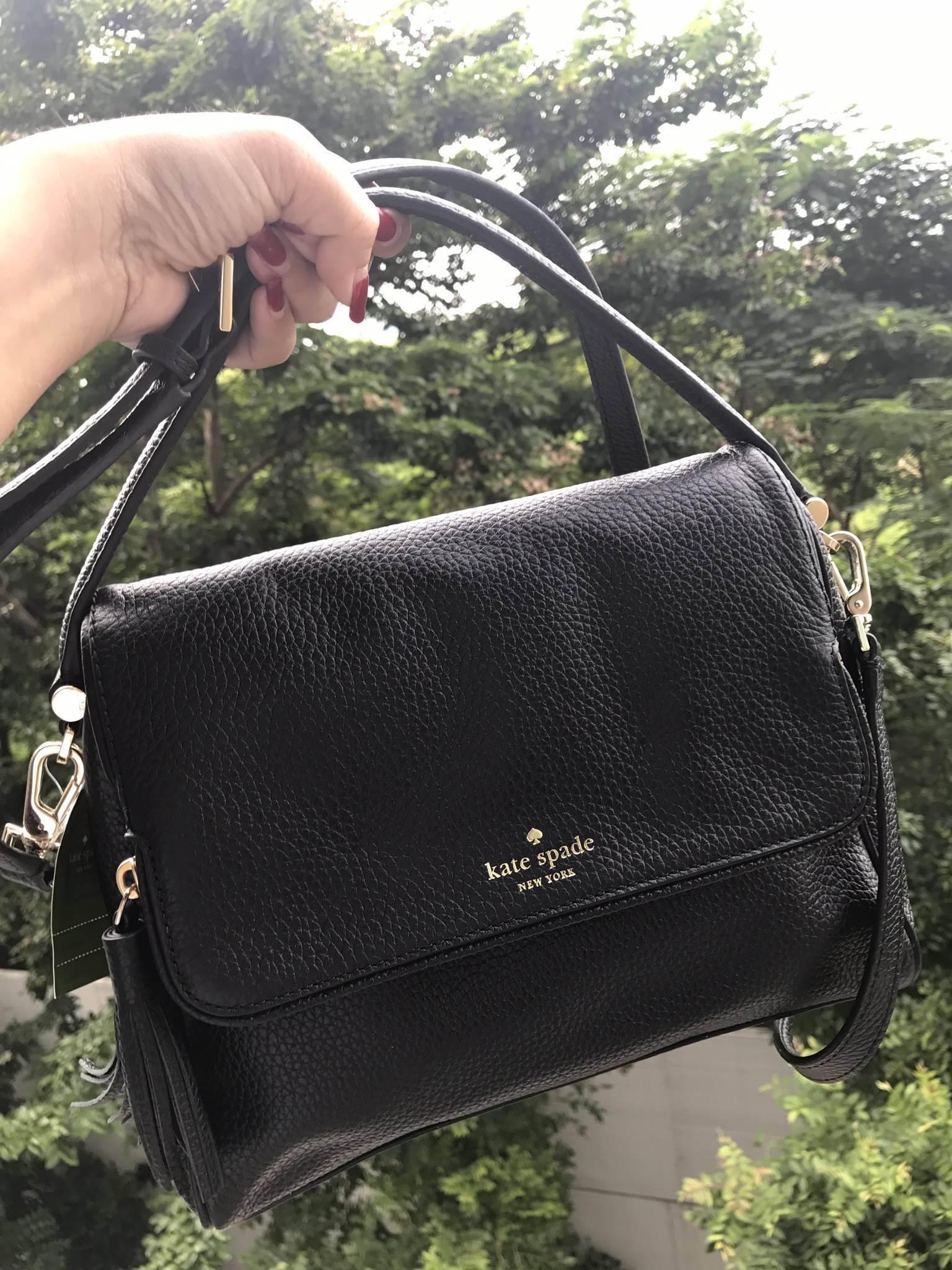 Kate Spade Miri Chester Street Leather Satchel - Black #Katespadeแท้