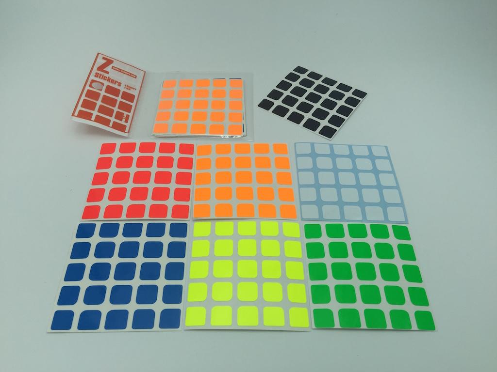 Z-Stickers Z-Bright for MoYu AoChuang 5x5x5 [ZSAC04]