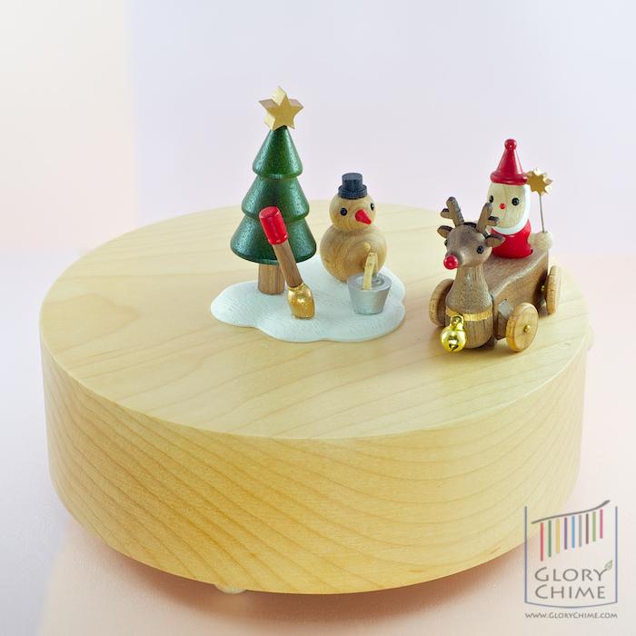 กล่องเพลง Reindeer & Sleigh ♫ Jingle Bells ♫ กล่องดนตรี Wooderful Life