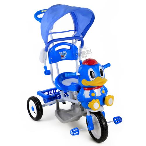 รถสามล้อปั่นหน้าเป็ด สีฟ้า...ฟรีค่าจัดส่ง