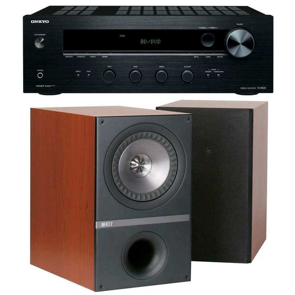 ONKYO TX-8020 + KEF Q300 (Rosewood)