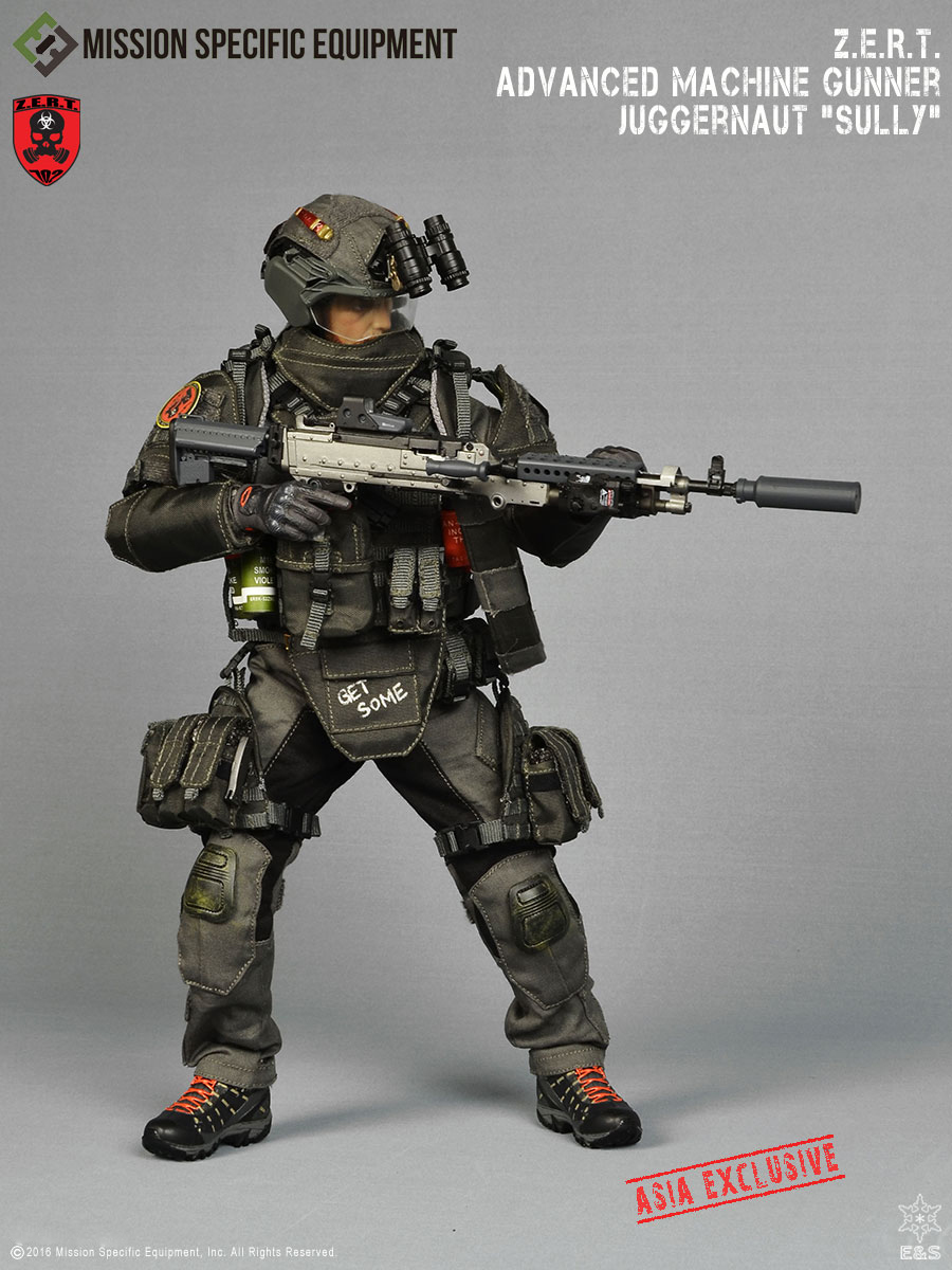 "MSE 1/6 Z.E.R.T. Advanced Machine Gunner Juggernaut: ""SULLY"" ASIAN VERSION"
