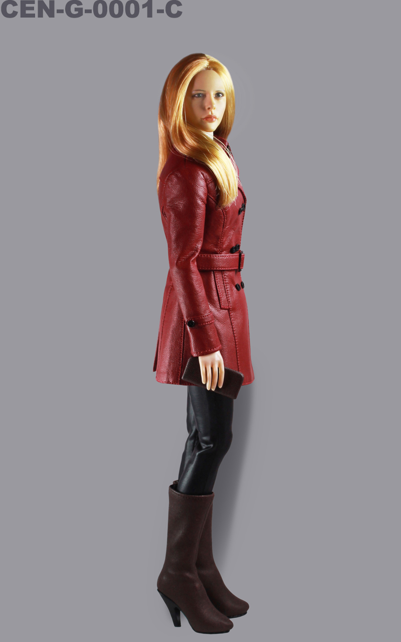 Toy center - G-0001 1/6 classic women's leather suit