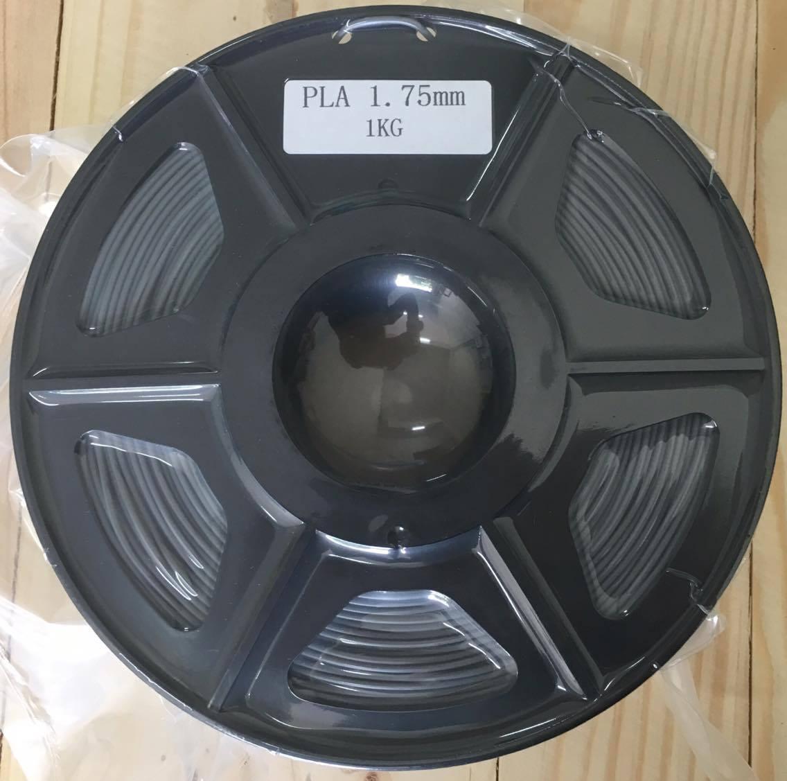 เส้นวัสดุ PLA ม้วนละ 1 กิโลกรัม (สีเทาเข้ม)