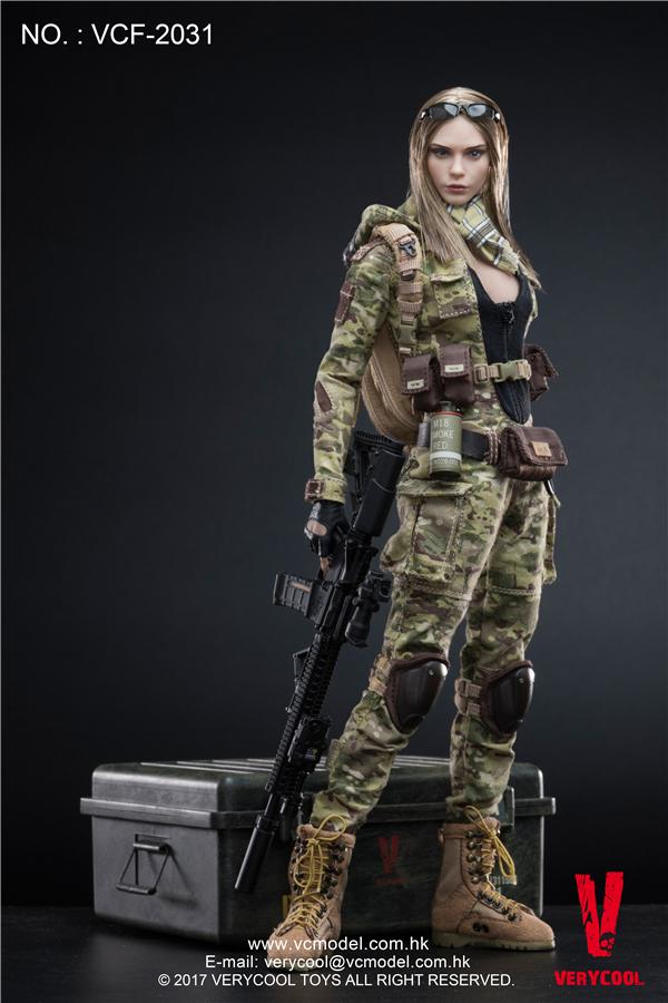 VERYCOOL VCF-2031 MC Camouflage Women Soldier - Villa