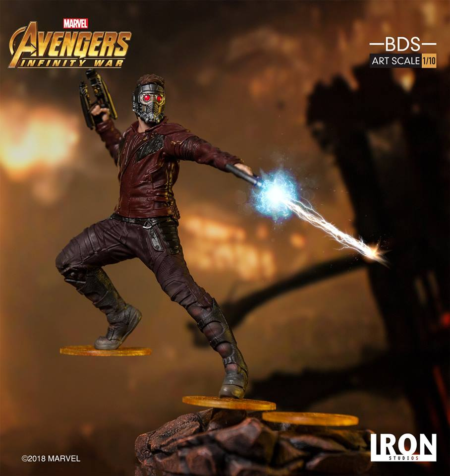 24/07/2018 Iron Studios - Star-Lord BDS Art Scale 1/10 Avengers Infinity War