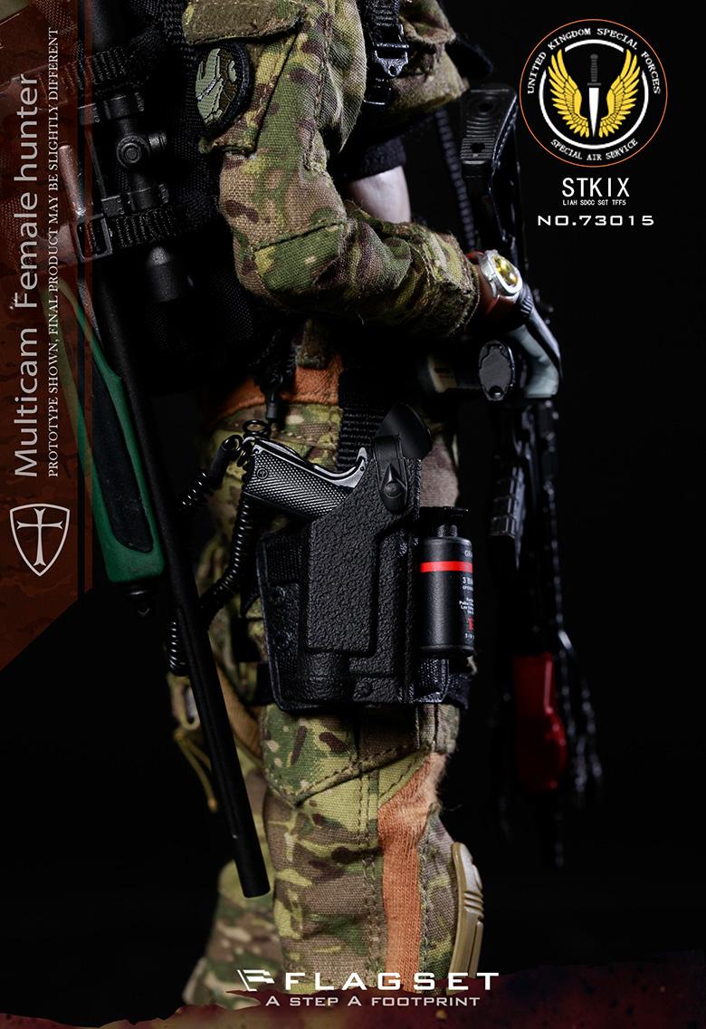 "1//6 FLAGSET FS-73015 MC War Angel Angela Female Soldier Hunter 12/"" Figure Body"