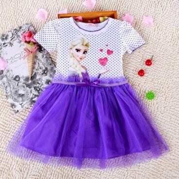 Pre-order ชุดเอลซ่า / Size 100 / Purple