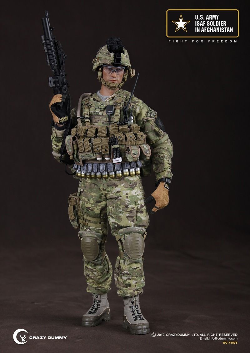 Crazy Dummy No.CD78005 U.S. ARMY ISAF SOLDIER IN AFGHSNISTAN