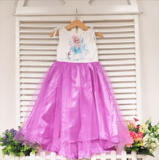 Pre-order ชุดเอลซ่า/ Size 130 / purple