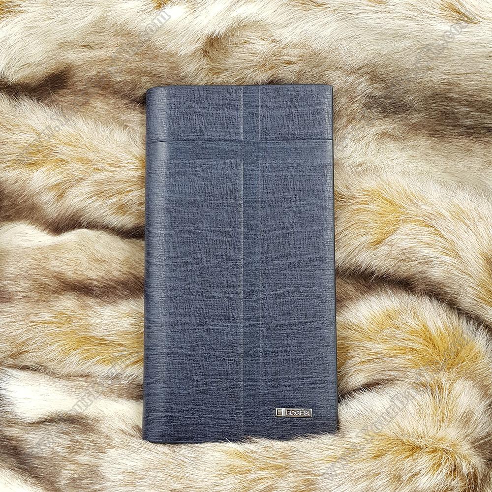 BOGESI กระเป๋าสตางค์ผู้ชาย ทรงยาว รุ่น Plus (Blue)