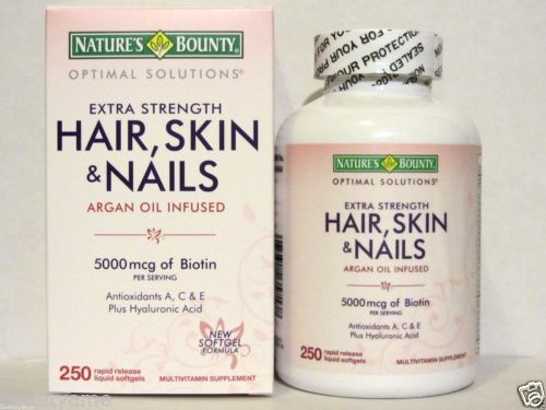NATURE'S BOUNTY EXTRA STRENGTH HAIR, SKIN & NAILS เนเจอร์ เบาวน์ตี้ วิตามินบำรุงผมดกหนา ผิวกระจ่างใส เล็บสวย